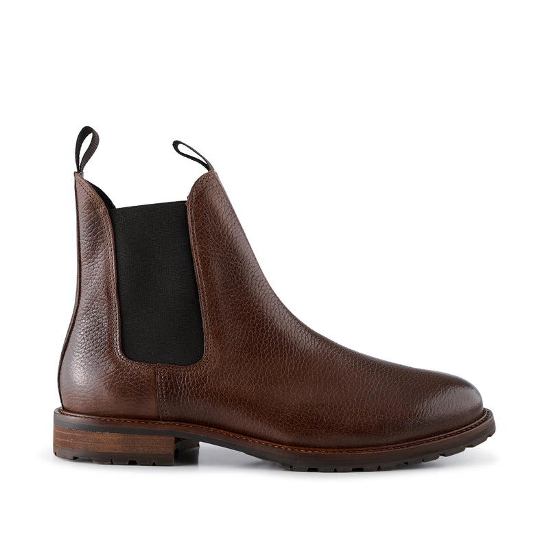 SHOE THE BEAR MENS York Leather Chelsea Boot Chelsea Boots 130 BROWN