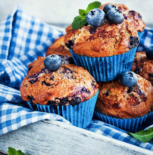Amazing Vegan Blueberry Muffins