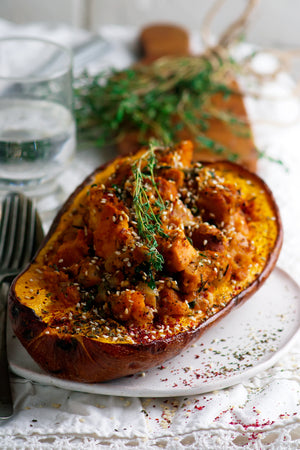 Vegetarian Stuffed Acorn Squash Recipe