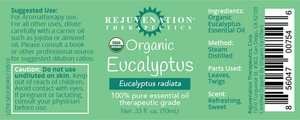 Organic Eucalyptus Essential Oil (10 ml) - Offers Mucus, Nausea and Stress Relief