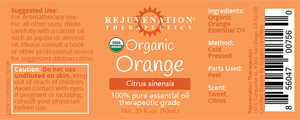 Organic Orange Essential Oil (10 ml) - Refreshes Body & Mind