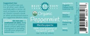 Organic Peppermint Essential Oil (10 ml) - Repairs Dry Skin & Comforts Sore Muscles