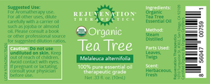 Organic Tea Tree Essential Oil (10 ml) - Toenail Fungus & Acne Treatment