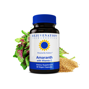 Amaranth Extract with Vitamin C (650 mg, 60 Vegan Capsules) - Heart Health and Immunity, Boosts Energy, Non-GMO, Gluten-Free