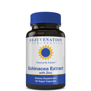 Echinacea Extract with Zinc (200 mg, 60 Vegan Capsules) - Immune Support, Non-GMO, Gluten-Free