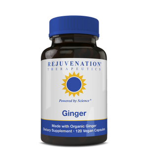 Organic Ginger (500 mg, 120 Vegan Capsules) - Digestion & Intestinal Health, Non-GMO, Gluten-Free