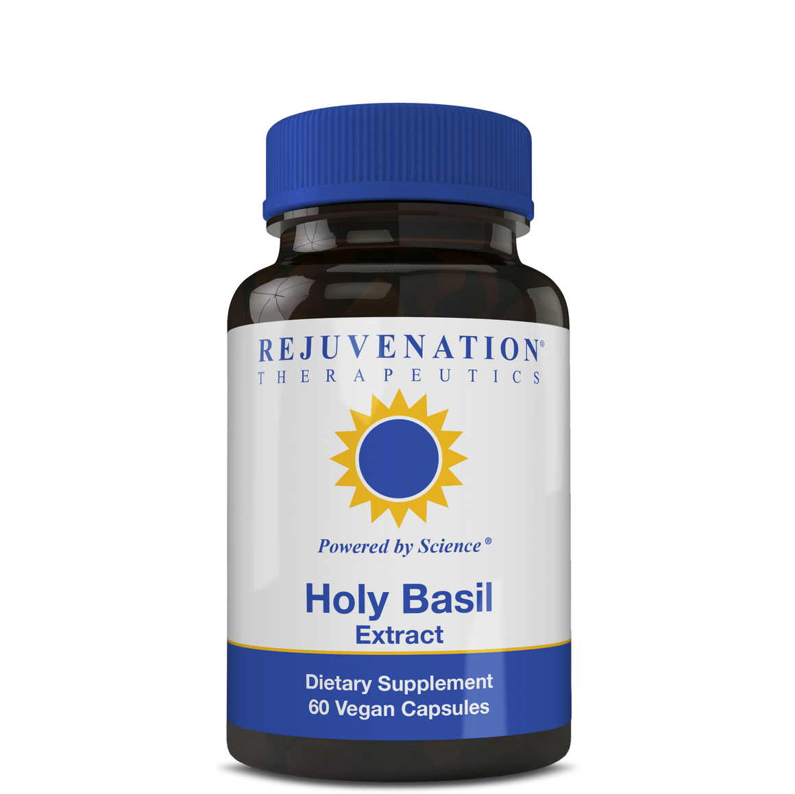 Holy Basil Extract (500 mg, 60 Vegan Capsules) - Stress Response & Healthy Mood, Non-GMO, Gluten-Free