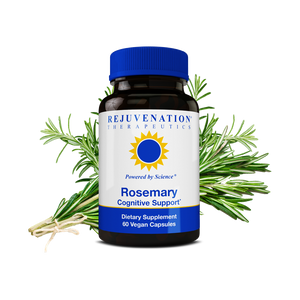 Rosemary Extract (500 mg, 60 Vegan Capsules) - Brain & Heart Protection, Non-GMO, Gluten-Free