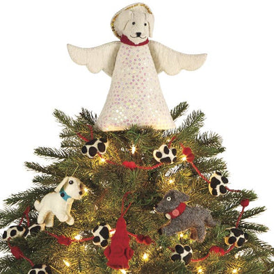 Dog Felt Tree Topper