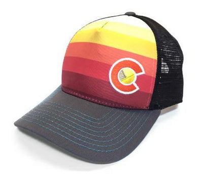 Sunset Fader Trucker Hat (Black Mesh)