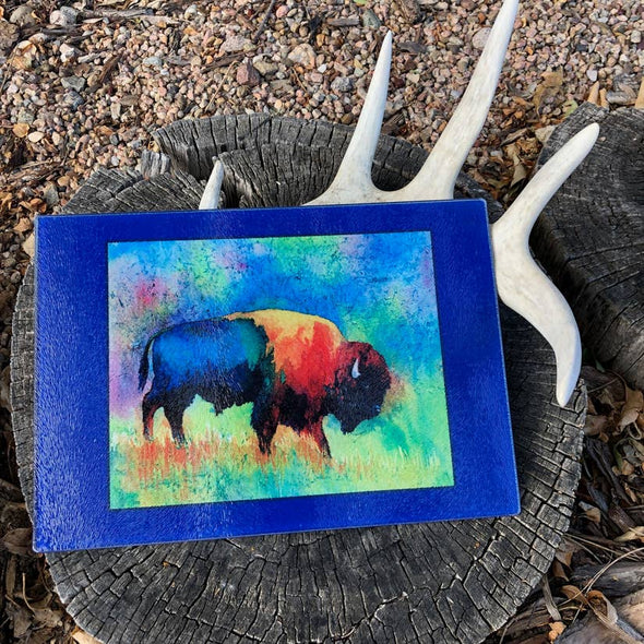 Watercolor Bison Cutting Board