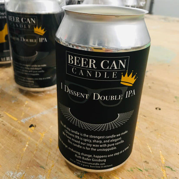 I Dissent Double IPA Beer Can Candle
