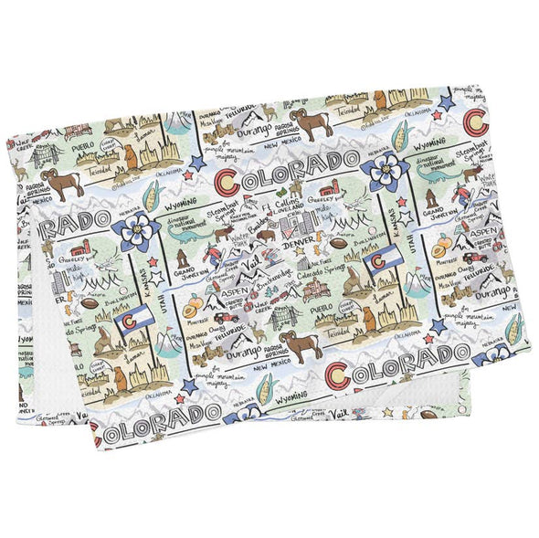 Colorado Map Multi-Use Towel