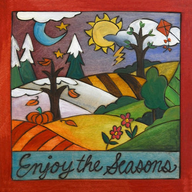 Enjoy the Seasons Sincerely Sticks Plaque