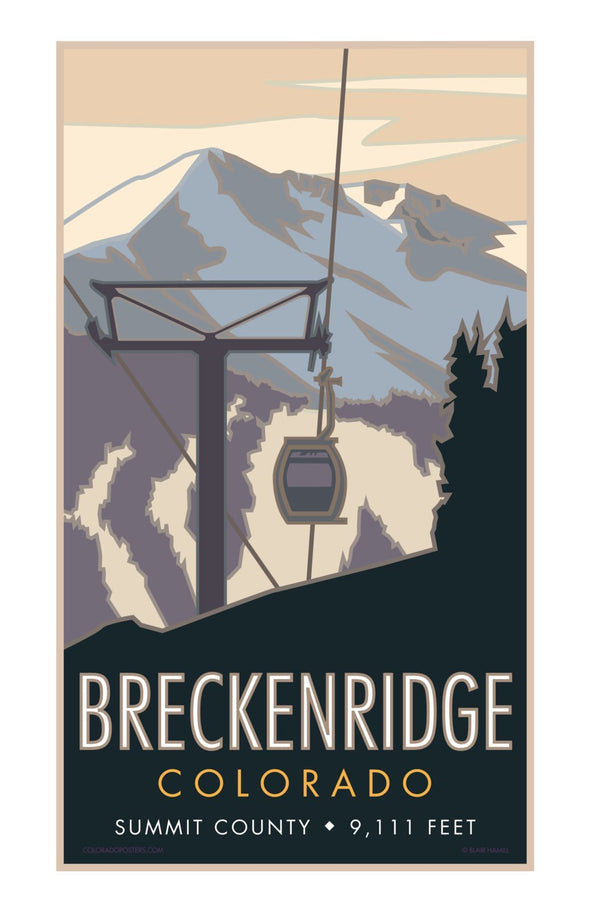 Breckenridge Colorado Poster 11 x 17