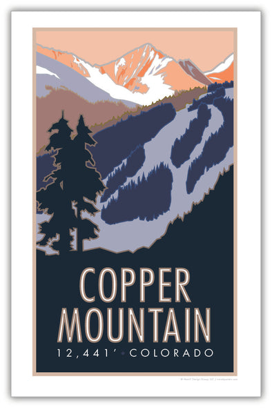 Copper Mountain Colorado Poster 11 x 17
