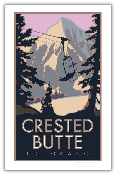 Crested Butte (Winter) Colorado Poster 11 x 17