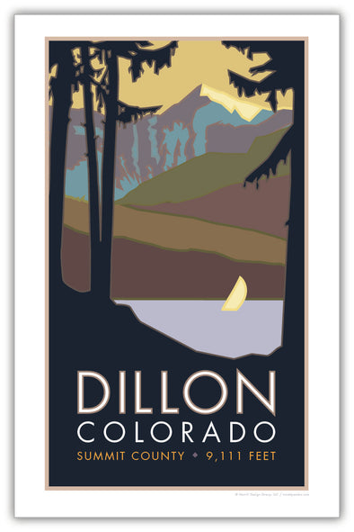 Lake Dillon, Colorado Poster 11 x 17