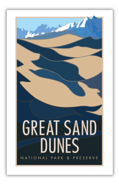 Great Sand Dunes National Park, Colorado Poster 11 x 17
