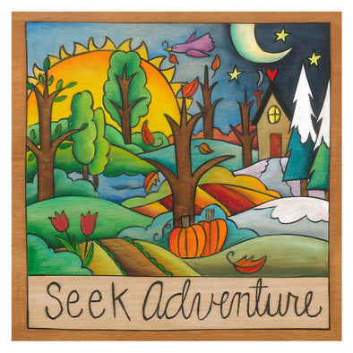 Seek Adventure Sincerely Sticks Plaque