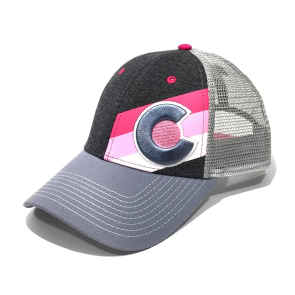 Incline Colorado Trucker Hat Pink Punk