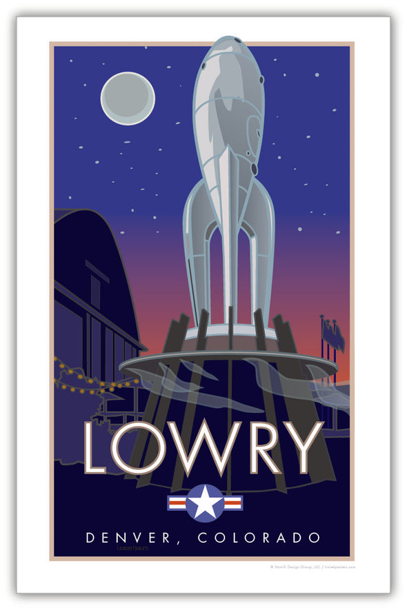 Lowry Neighborhood, Denver, Colorado Poster 11 x 17