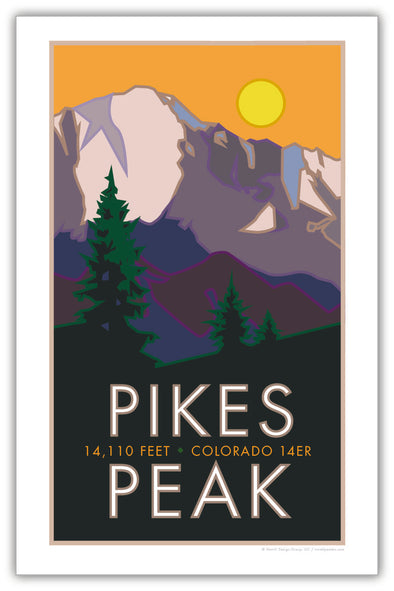 Pikes Peak, Colorado Poster 11 x 17