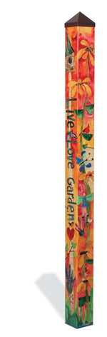 Love Garden Art Pole
