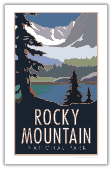 Rocky Mountain National Park w/ Lake Colorado Poster 11 x 17