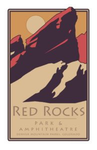 Red Rocks Sun Poster 11 x 17