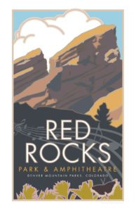 Red Rocks Poster 11 x 17