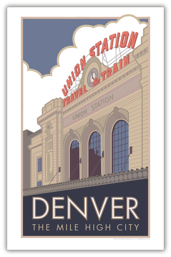 Denver Union Station (Summer Exterior) Poster 11 x 17