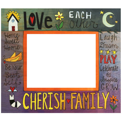 "8x10 ""Cherish Family""  Sincerely Sticks Picture Frame"