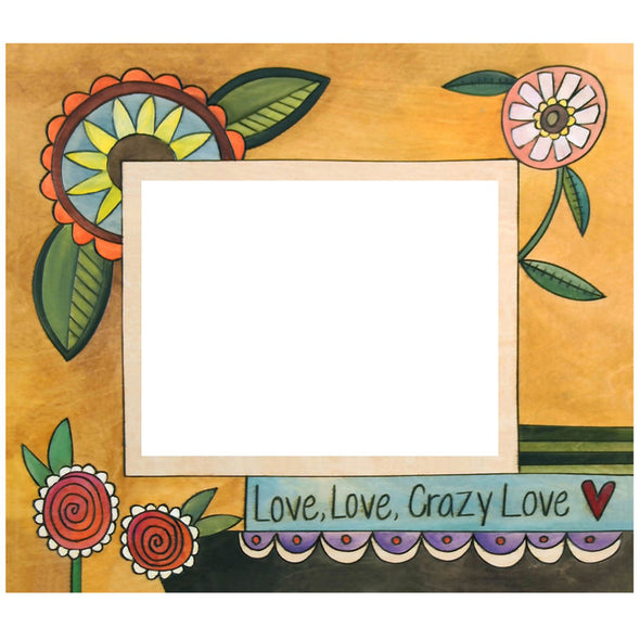 "8x10 ""Love, Love, Crazy Love""  Sincerely Sticks Picture Frame"