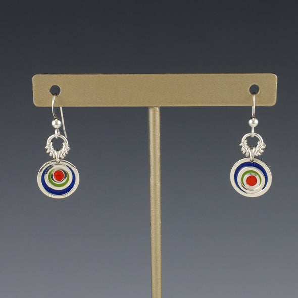 Petite Concentric Circles Drop Earrings