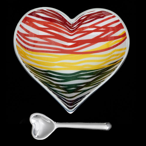 "5"" Happy Ribbons Heart w/Heart Spoon"