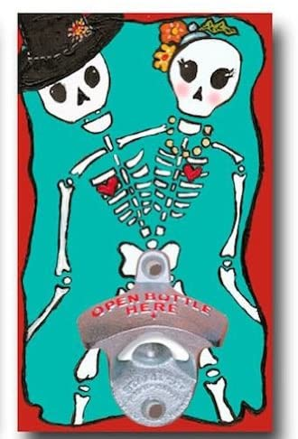 Wall Mounted Bottle Opener- Day of the Dead Couple