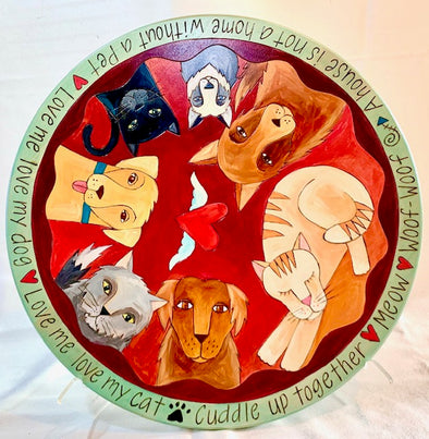 "20"" Sticks Dog & Cat Lazy Susan"