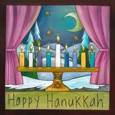 Happy Hanukkah Sincerely Sticks Plaque