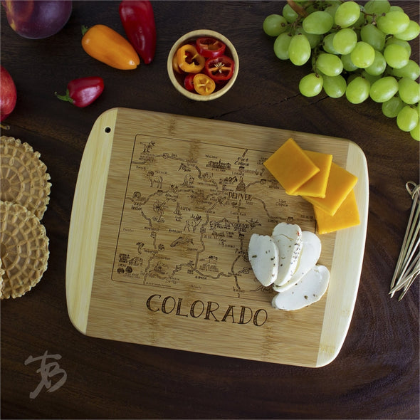 "A Slice of Life Colorado 11"" Cutting Board"