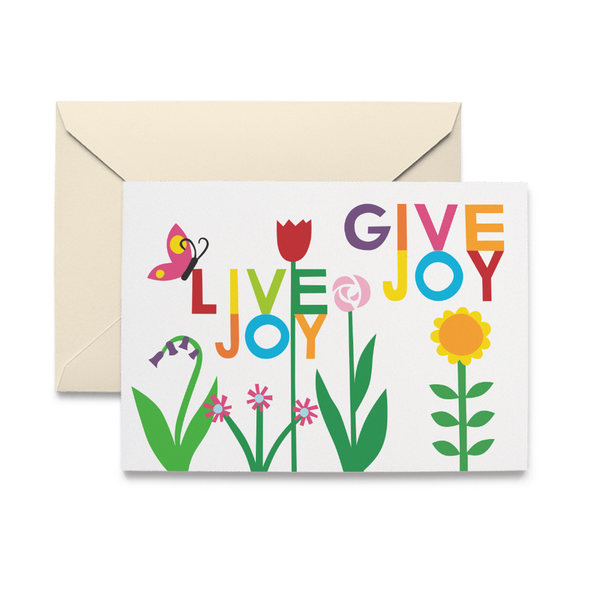 Live Joy Give Joy Garden Boxed Note Cards