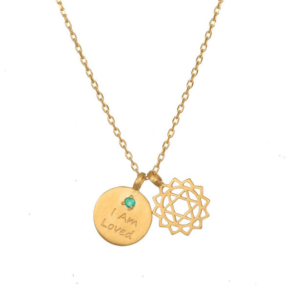 Gold I am Chakra Necklace 18-inch