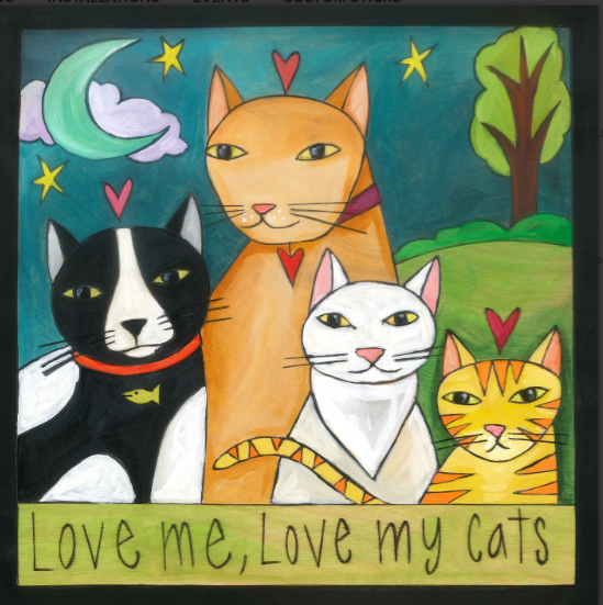 Love Me, Love My Cat! Sincerely Sticks Plaque