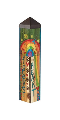 "DOG -  Rainbow Bridge  20"" Art Pole"