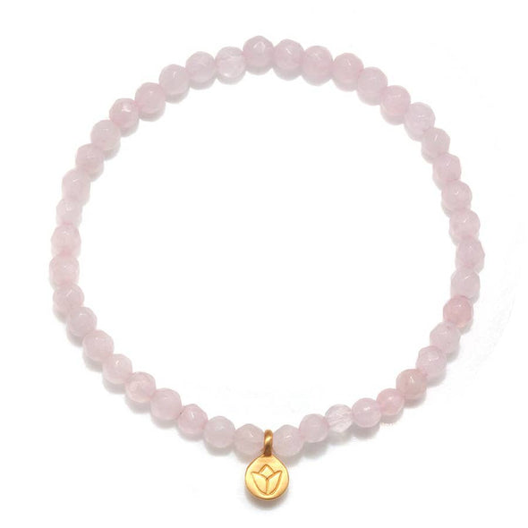 Rose Quartz Lotus Bracelet