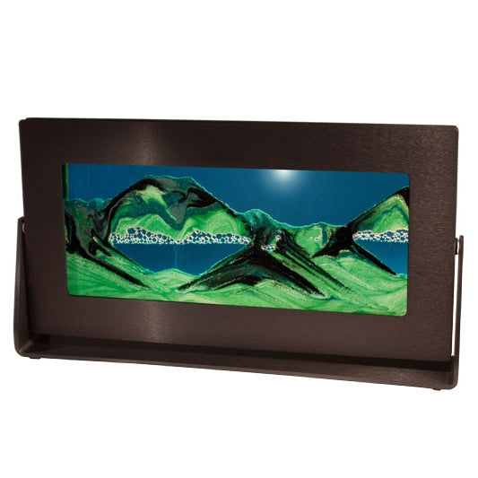 Summer Turquoise Sand w/Black Anodized Metal Frame - Rectangle