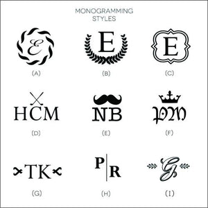 White Cocktail Napkins - Monogram