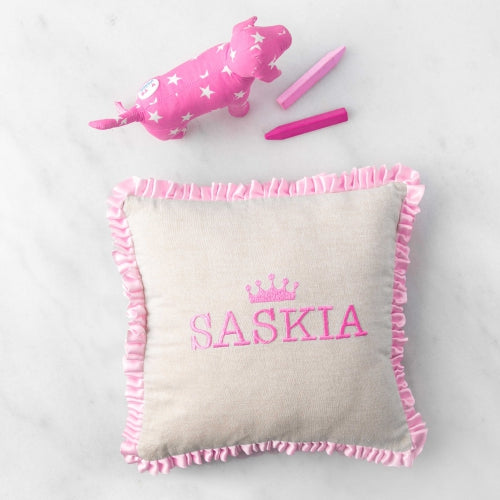 Small Baby Girl Pillows Monogram