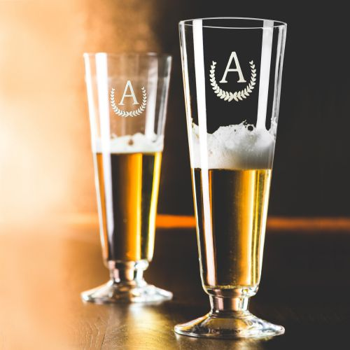 Beer Glass Monogram - Set of 2