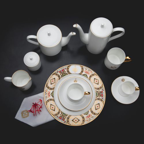 Tea Coffee Set Mono - Set of 6